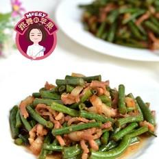 五花肉炒豇豆