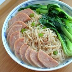午餐肉青菜虾仔面