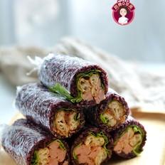 紫糯米油条饭团