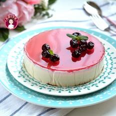 蔓越莓镜面奶酪蛋糕