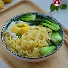 鸡蛋青菜汤面