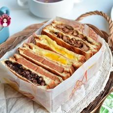 早餐甜咸三明治不重样