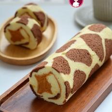长颈鹿红薯夹心蛋糕卷