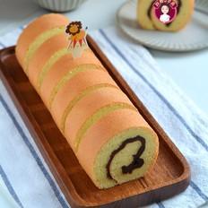 红豆沙戚风蛋糕卷