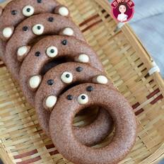 黑全麦甜甜圈小熊馒头