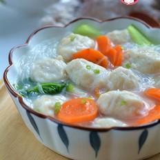 胡萝卜鱼丸粉丝汤