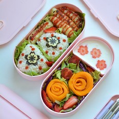鳕鱼沙拉饭团轻脂便当的做法