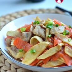 肉片胡萝卜茭白的做法