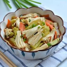 鲜美脆嫩的黄瓜拌腐竹的做法