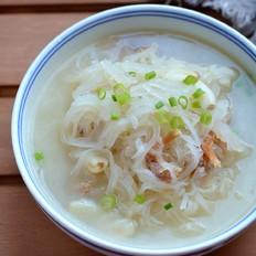 白萝卜海米汤的做法