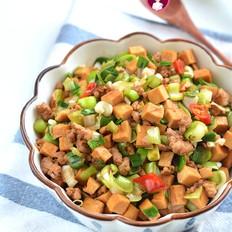 肉末青蒜豆腐干