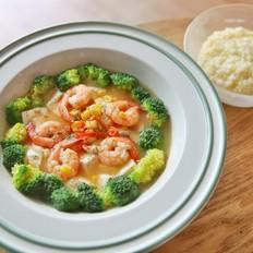 低脂缤纷豆腐虾(我的减肥食谱)