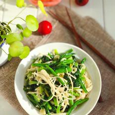 菠菜炒金针菇