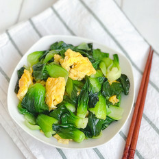 油菜炒鸡蛋