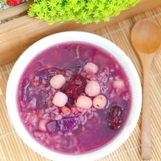 紫薯莲子粥