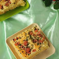 葱香沙拉面包片