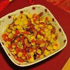 胡萝卜玉米炒腰果