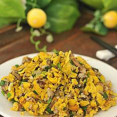 肉末香菇炒土鸡蛋