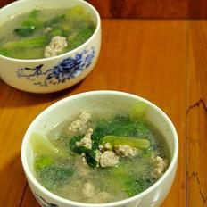 生菜肉末汤