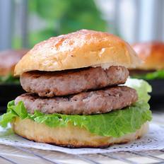 姜末猪肉双层汉堡