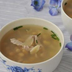 百合黄豆肉片汤