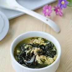 紫菜虾米蛋花鸡汤