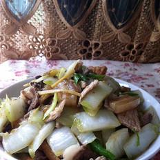白菜梗炒肉