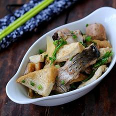 水豆腐烧鱼块