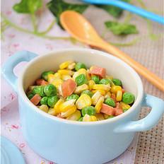玉米青豆炒胡萝卜粒
