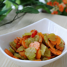 双色蔬菜花朵