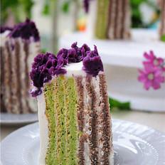 蔬菜双色螺旋蛋糕卷