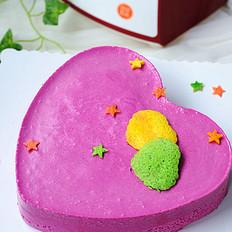 豆浆火龙果慕斯蛋糕