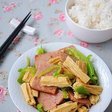 腐竹辣炒火腿片