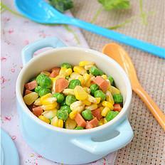 彩色豆腐粒