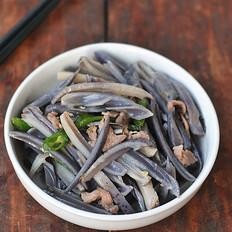 肉片炒藕条