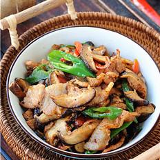 双椒花菇炒肉片