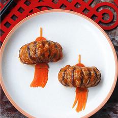 给小朋友定制的年夜菜——灯笼茄子
