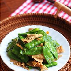 卤腐竹炒豌豆