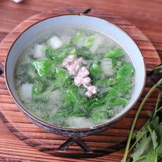小白菜肉末汤