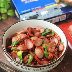 青红椒炒牛肉肠