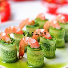 一帆风顺——黄瓜虾卷