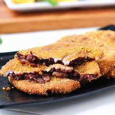 红豆芋头饼
