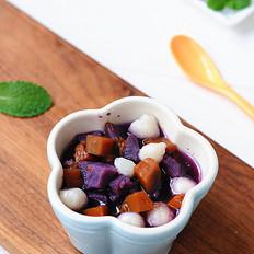 南瓜紫薯糯米丸子