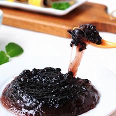 莲藕黑米凉糕