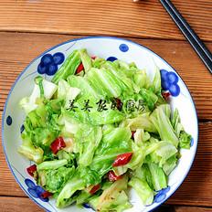 清炒牛心菜