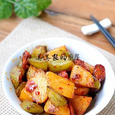 土豆焖莴笋