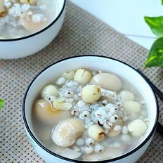 莲子薏米糯米芸豆粥