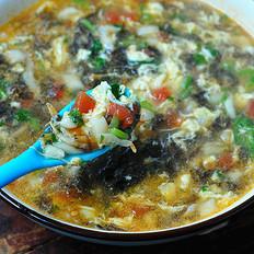 紫菜疙瘩丸子汤