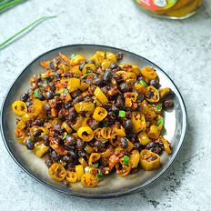 黑豆豉炒腌绿辣椒