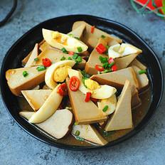 鸡蛋拌卤水豆腐